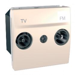 Priza TV Schneider MGU3.451.25 unica - Priza TV/FM individuala de capat , ivoar