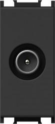 Priza TV Tem KM12SB-B Modul - Priza TV-SAT trec 1m negru