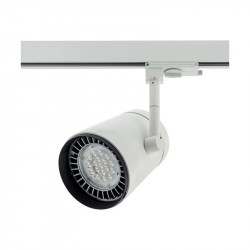 Proiector Arelux XShop Led SP02NW40 MWH - Proiector cu led 15.5W 4000K 40grd. IP20 MWH (5f), alb