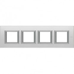Rama Bticino HA4802M4HVSA Axolute - Rama din sticla, rectangulara, 2+2+2+2 module, st. german, mirror glass