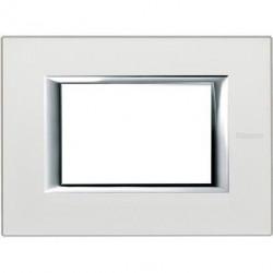 Rama Bticino HA4803SA Axolute - Rama metalica, rectangulara, 3 module, st. italian, silver mat