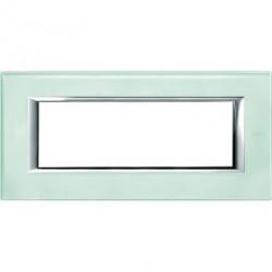Rama Bticino HA4806VKA Axolute - Rama din sticla, rectangulara, 6 module, st. italian, kristall glass