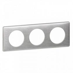 Rama Legrand 68923 Celiane - Rama metalica, 3 posturi, interax 71mm, aluminiu