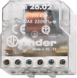 Releu Finder 260280120000 - Releu de impuls (pas cu pas) 12V, AC, 10A