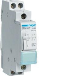 Releu Hager EPE515 - Releu de impuls (pas cu pas) 110V-230V, AC/DC, 16A