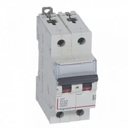 Siguranta automata Legrand 408034 - DISJUNCTOR DX3 2P, 32A, 6kA, D