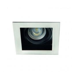 Spot Kanlux 26722 ARET - Spot incastrat, directional GU10, 1x35W, inox periat/negru