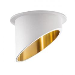 Spot Kanlux 27325 Spag - Inel spot incastrat LED GU10, max 35W, alb/auriu