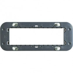 Suport Bticino H4706 Axolute - Suport 6 module cu clipsuri, plastic, st italian