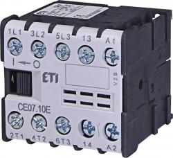 Contactor Eti 004641020 - Contactor putere CE07.10-24V-50/60Hz