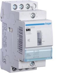 Contactor modular Hager ERC325S - CONTACTOR SIL. MANUAL, 25A, 3ND, 230V