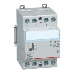 Contactor modular Legrand 412512 - CX3 CT 24V 4F 63A