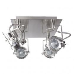 Corp iluminat Kanlux 4798 SONDA EL-4L - Plafoniera GU10, 4xmax 50W, IP20, inox