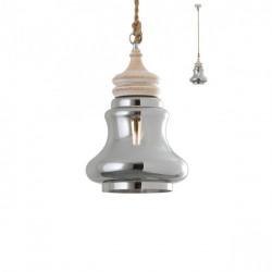 Corp iluminat Redo 01-1401 Kashi - Lustra, max 1x42W, E27, IP20, sticlă suflată fumurie