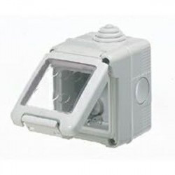 Doza Gewiss GW27042 - Doza aparenta, IP55, 2 module, alb