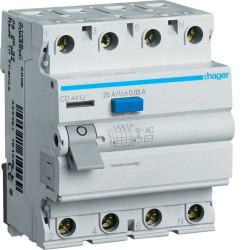 Intrerupator automat Hager CD426J - INTR.DIF. 4P 25A, 30MA, AC