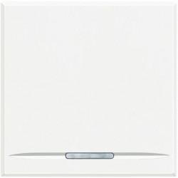 Intrerupator Bticino HD4051M2 Axolute - Intrerupator simplu, 16A - 250V, 2 module, rocker, alb