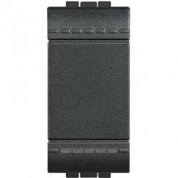 Intrerupator Bticino L4001N Living Light - Intrerupator simplu 16A - 250V, 1 modul, borne cu surub, negru
