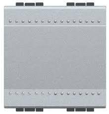 Intrerupator Bticino NT4003M2A Living Light - Intrerupator cap scara 16A - 250V, 2 module, borne automate, argintiu