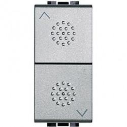 Intrerupator Bticino NT4027 Living Light - Intrerupator stroruri cu inversor 1P ND 1-0-2 1M, argintiu