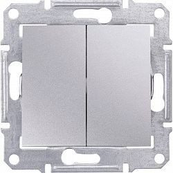 Intrerupator Schnedier SDN0300160 Sedna - INTR DUBLU CAP SCARA, 10 AX - 250 V ALUMINIU