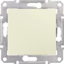 Intrerupator Schneider SDN0100347 Sedna - Intrerupator simplu, IP44, 10 AX - 250 V bej