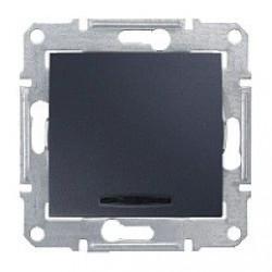 Intrerupator Schneider SDN0201270 Sedna - Intrerupator bipolar cu indicator luminos rosu, 16 AX - 250 V, grafit