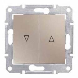 Intrerupator Schneider SDN1300368 Sedna - Intrerupator pentru jaluzele cu interblocare mecanica, 10 AX - 250 V, titan