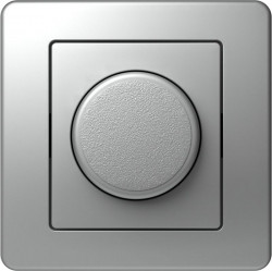 Intrerupator Tem EE19ES-B Ekonomik - Variator rotativ dimabil cap-scara 100 argintiu