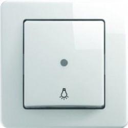 Intrerupator Tem SE11PWTI51-B Ekonomik - Buton simplu cu led alb
