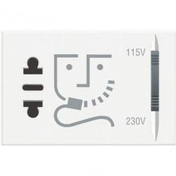 Priza Bticino HD4177 Axolute - Priza aparat ras, 2P, 16A, 250V, 3M, alb