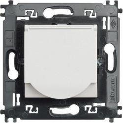 Priza Bticino N4141MAP Living Light - Priza standard german cu contacte laterale pentru impamantare si capac, borne automate, 2P+T, 16A, 250V, 2M, alb