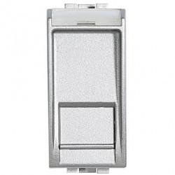 Priza Date Bticino NT4279C6S Living Light - Priza Rj45, STP, Cat 6, 1M, argintiu