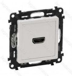 Priza HDMI Legrand 753171 Valena Life - Priza HDMI 1.3, cu suruburi, alba