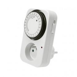 Priza programabila Kanlux 1001 TS-MF1 STER - Priza cu temporizare analogica, 16A, 3600W, IP20, alb