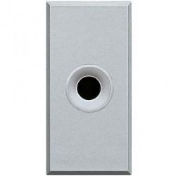 Priza Semnal Bticino HC4391 Living Light - Conector audio jack 3.5, 1M, argintiu