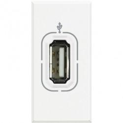 Priza semnal Bticino HD4285 Axolute - Conector USB, 1M, alb