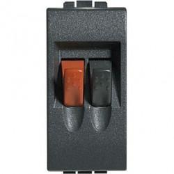 Priza Semnal Bticino L4294 Living Light - Conector audio pentru difuzoare, 1M, negru