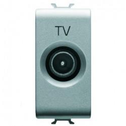 Priza TV Gewiss GW14362 Chorus - Priza TV intermediara, atenuare 5dB, conector 9.5mm, 1M Titanium