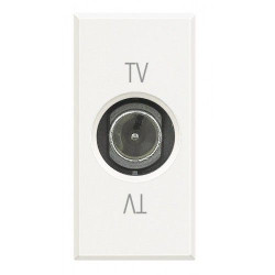 Priza TV/SAT Bticino HD4202D Axolute - Priza TV de capat, 1M, alb