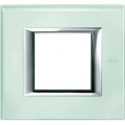 Rama Bticino HA4802VKA Axolute - Rama din sticla, rectangulara, 2 module, kristal glass