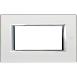Rama Bticino HA4804SA Axolute - Rama metalica, rectangulara, 4 module, st. italian, silver mat
