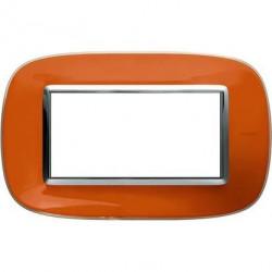 Rama Bticino HB4804DR Axolute - Rama din termoplastic, eliptica 4 module, st italian, liquid orange