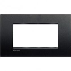Rama Bticino LNA4804AR Living Light - Rama 4 module, rectangulara, din plastic polimerizat, antracit