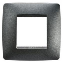 Rama Gewiss GW16122VA Chorus - Rama One International, 1P, 2M, oriz, termoplastic, negru ardezie
