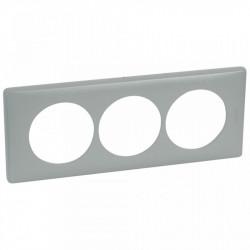 Rama Legrand 68749 Celiane - Rama 3 posturi, polimer, interax 57mm, ciment