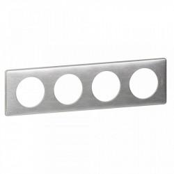 Rama Legrand 68924 Celiane - Rama metalica, 4 posturi, interax 71mm, aluminiu