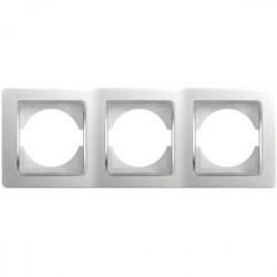 Rama Tem OE30CO-U Ekonomik - Rama tripla orizontala alb cu inel argintiu