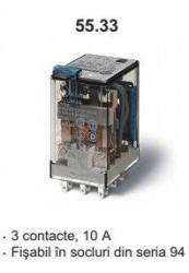 Releu Finder 553391100060 - Releu comutatie 110V, AC/DC, 3C, 10A