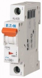 Siguranta automata Eaton 262710 - DISJUNCTOR PL7-C63/1 1P, 63A, 10kA, C